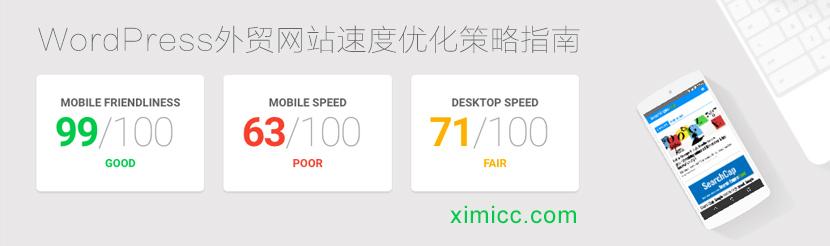 Google网站速度测试评分